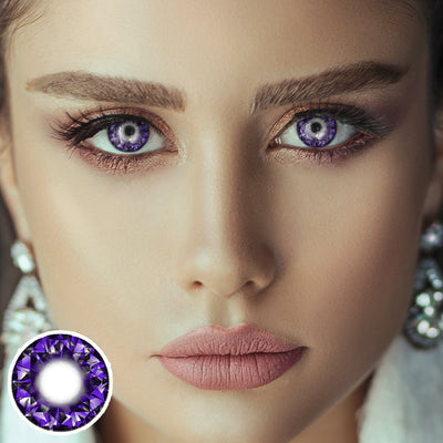 Shiny Purple Diamond Contact Lenses