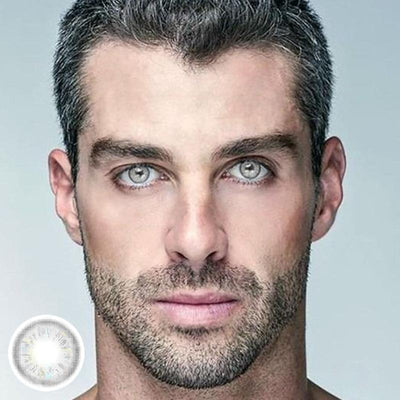 Men's gray crystal color (12 months) contact lenses