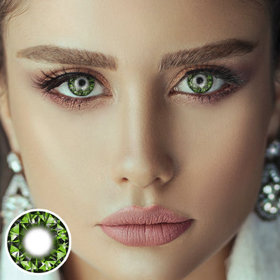 Shiny Green Diamond Contact Lenses