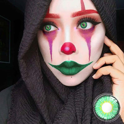 Cosplay Light Green Colored Contact Lenses