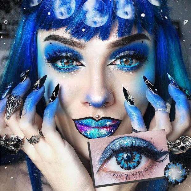 Lolly Blue Contact Lenses