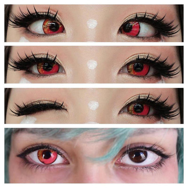 Coscon Sky Red (12 Month) Contact Lenses - ilabar