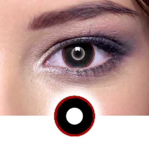 Hell Raiser Black Red Contact Lenses