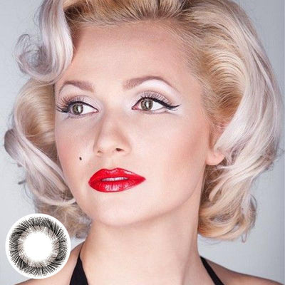 Marilyn Monroe pattern black (12 months) contact lenses