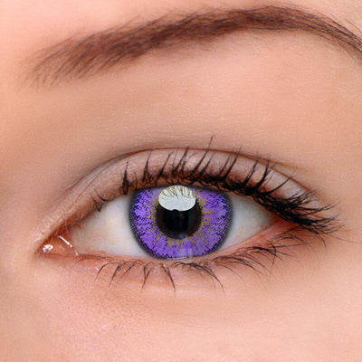 Elf Purple Contact Lenses