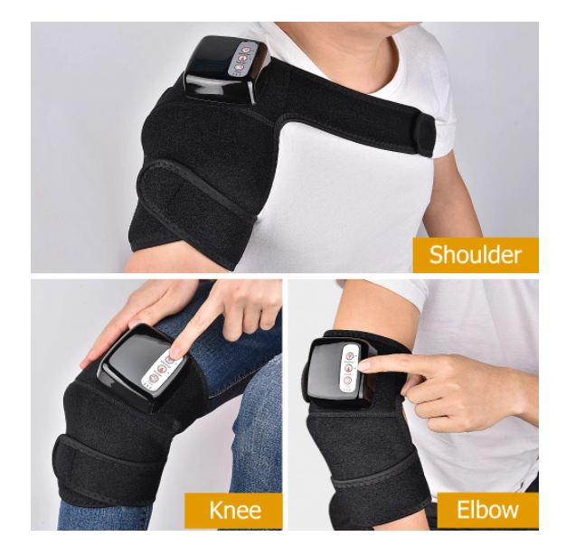 Knee Heat Massager Portable Knee Wrap Massager for Joint Pain Relief