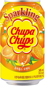 Chupa Chups Sparkling Orange Flavour Soft Drink Can (345ml) JAPAN