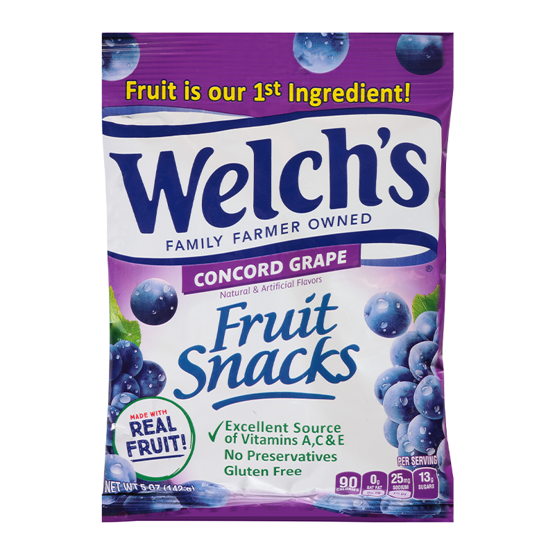 Welch's Fruit Snacks Grape (142g)