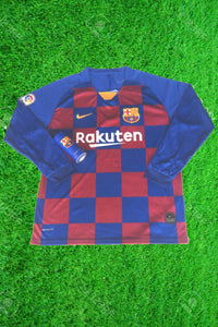 Barcelona Home Full Sleeves Jersey With Barcelona Body Spray