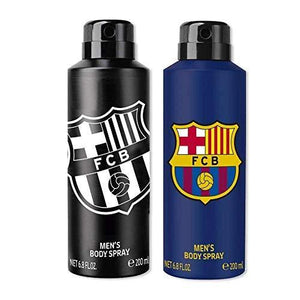 FC Barcelona Original Black & Blue Combo Body Spray - For Men (400 ml, Pack of 2)