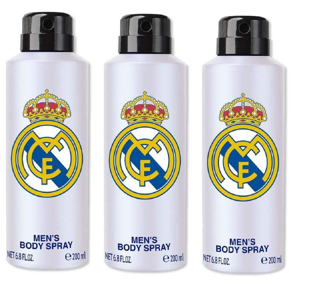 Real Madrid Original White Combo Pack Of 3 Body Spray - For Men