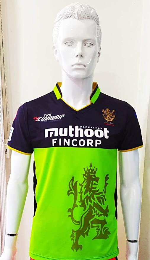 RCB BOWLERS 2020 IPL Green/Black Jersey Without Name & No.