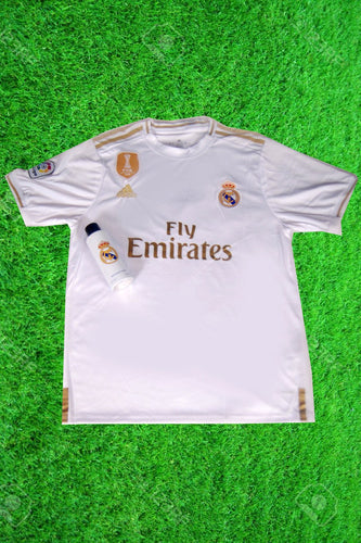 Real Madrid Home Jersey With Real Madrid Body Spray
