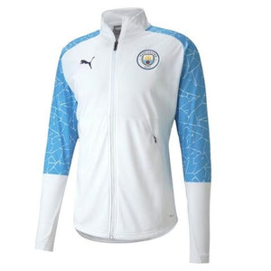 Puma Manchester City Stadium Jacket - White-Blue 2020/21