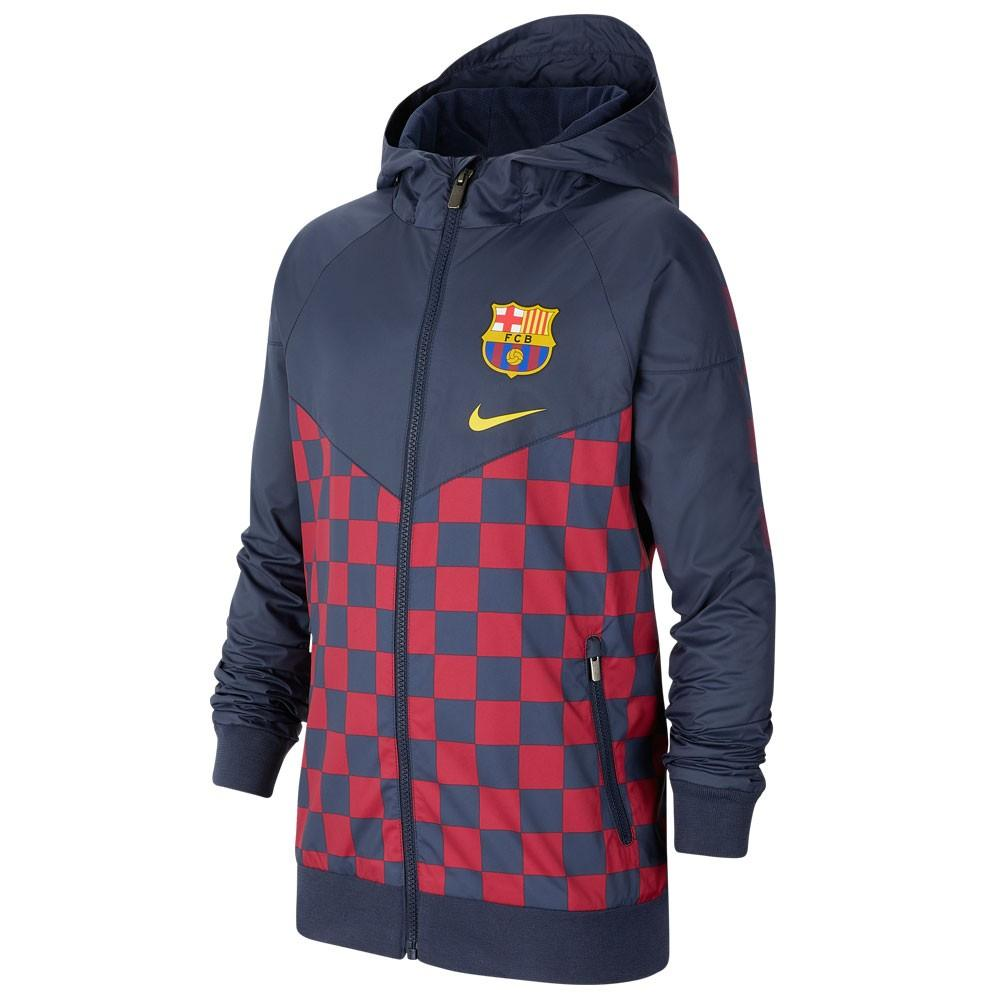 Barcelona Hoodie 19/20 Blue & Red Jacket
