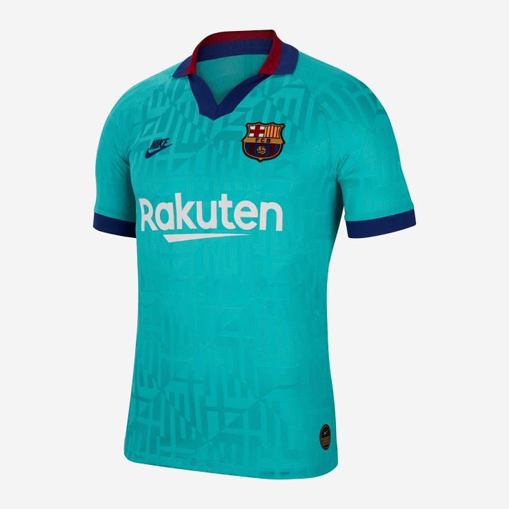 Barcelona Third 19-20 With Name & No