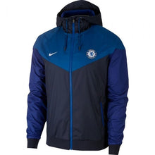 Load image into Gallery viewer, Chelsea Wind Runner  Blue-Black Jacket