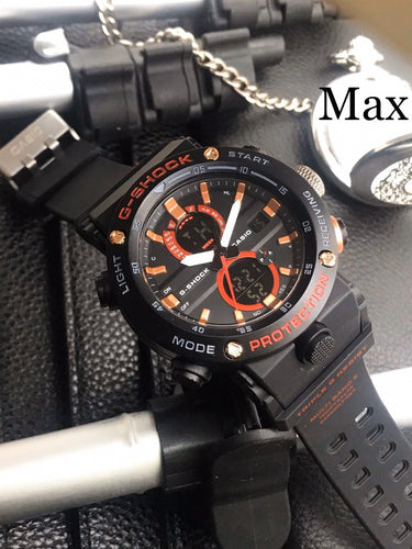 G-SHOCK LEVEL TOUGHNESS WATCH - BLACK & ORANGE