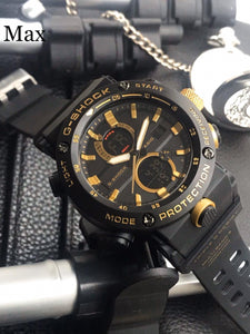G-SHOCK LEVEL TOUGHNESS WATCH - BLACK & GOLD