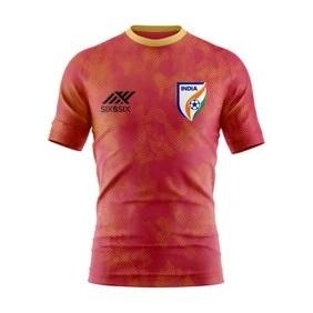 India Football Jersey Red Without & Name No.