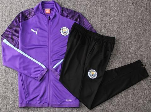 Man City 19-20 Black Purple Track Suit