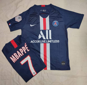 Mbappe PSG Authentic  Home Player Version Jersey 19-20