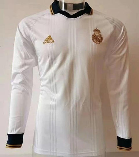Real Madrid White long sleeves T-Shirt