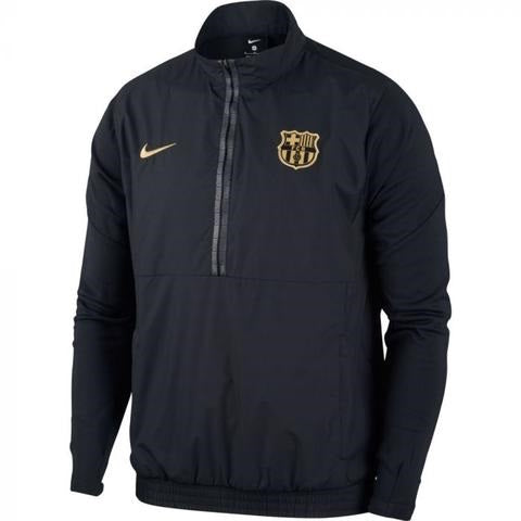 Barcelona Woven Jacket - Black-Gold 2020-21