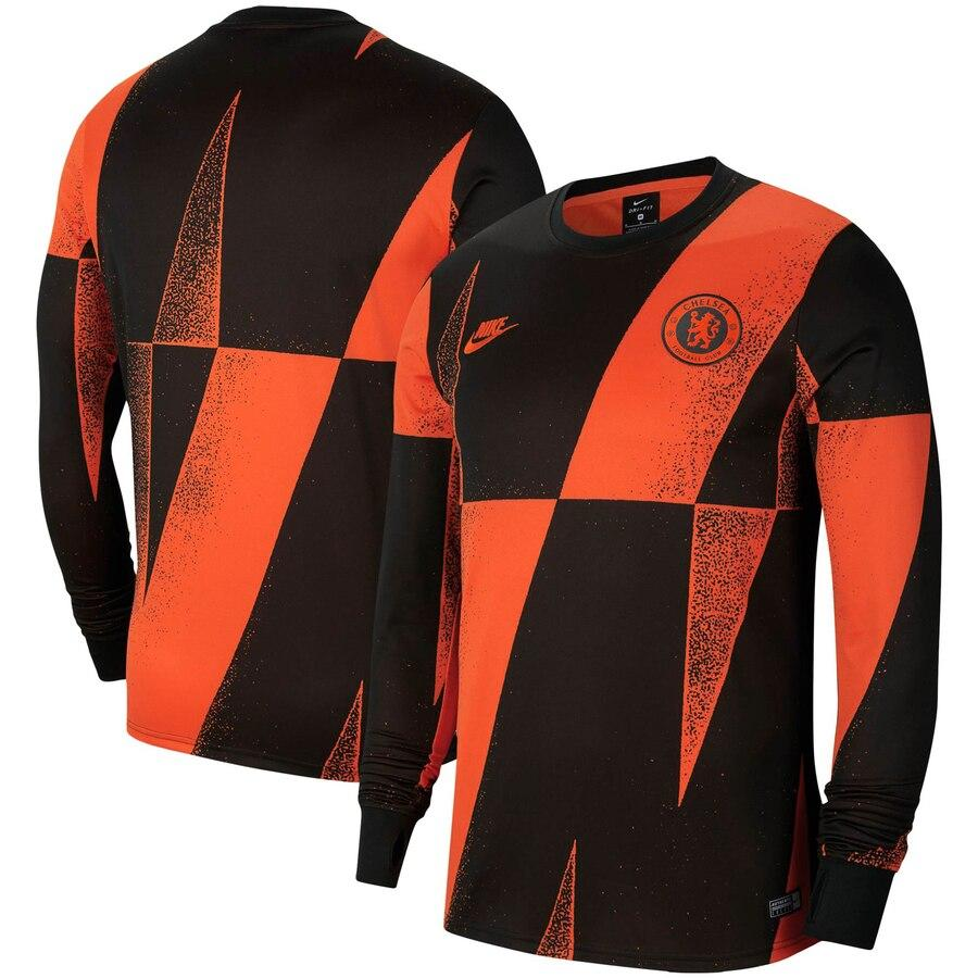 Nike CHELSEA Pre-Match Long Sleeves Black & Orange T.Shirt