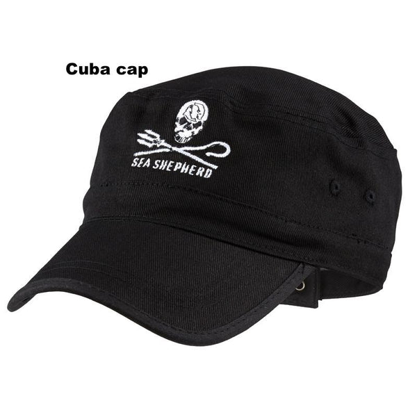Organic Cotton 'Cuba' style Sea Shepherd Jolly Roger Logo Cap