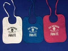 Sea Shepherd Bibs, White,Pink & Blue , Baby