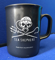 Sea Shepherd Jolly Roger logo 'Non Chip' Mugs made from recycled & recyclable plastic in Jolly Roger or Diver logos