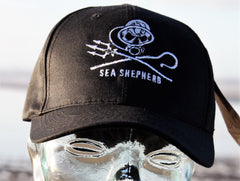 Sea Shepherd 'Dive' Jolly Roger style cap made from Recycled PET bottles