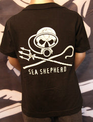 kid's T-Shirt Jolly roger Dive , sea shepherd