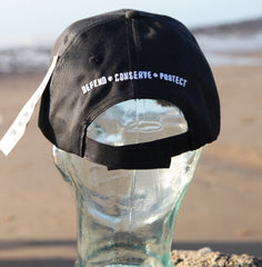 Sea Shepherd Jolly Roger 'white brim' style cap made from Recycled PET bottles