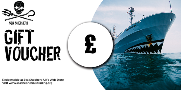 Sea Shepherd UK webstore Gift Vouchers in various amounts