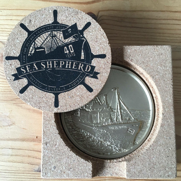 40th Anniversary Medallion Sea Shepherd made from the MY Steve Irwin's prop! LIMITED EDITION