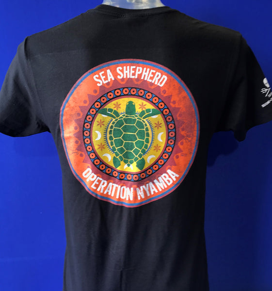 Operation NYAMBA Unisex Sea Shepherd  Black T-shirt