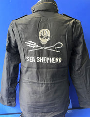 Sea Shepherd Embroidered quality Field Jacket with Jolly Roger logo