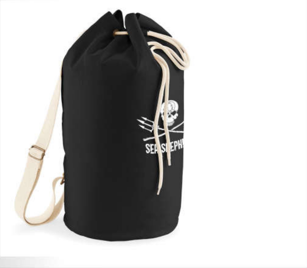 Sea Shepherd Embroidered Jolly Roger Organic Canvas Sea Bag