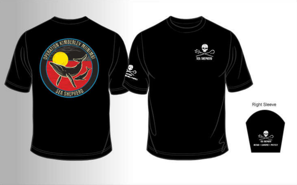 Sea Shepherd Operation Kimberley Miinimbi (2012) unisex organic cotton T-shirt, Black
