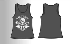 """If The Oceans Die, We Die"" - Limited Edition Ladies Vest in Anthracite Grey"