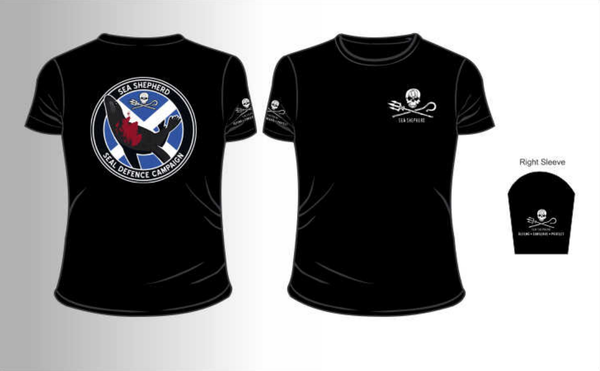 Sea Shepherd Seal Defence Campaign organic cotton T-shirt Unisex, Black