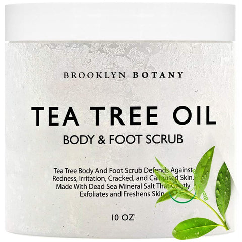 Tea Tree Oil Body Scrub and Foot Salt Scrub