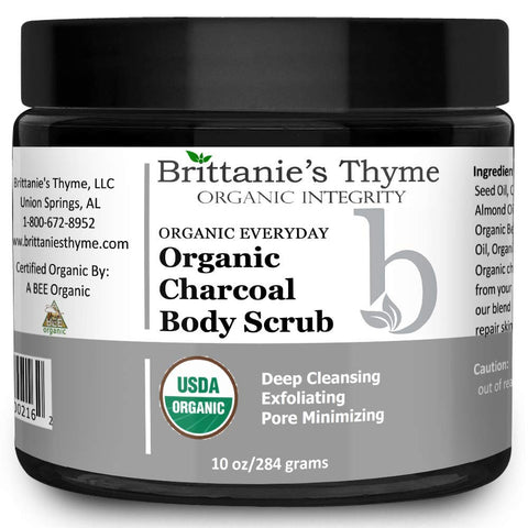 Organic Activated Charcoal Body Scrub