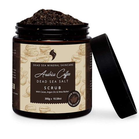 Natural and Organic Coffee Scrub with Dead Sea Salt