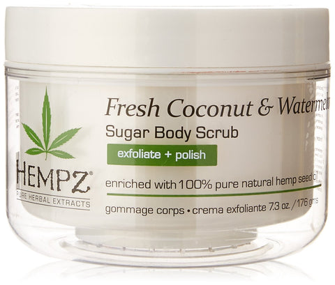 Hempz Herbal Sugar Body Scrub, Pearl White