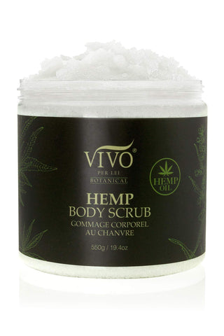 Salt Scrub with Hemp Seed Oil - Gentle Hemp Exfoliating Body Scrub