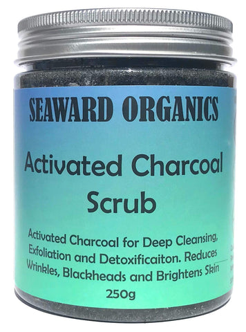 Seaward Organics Activated Charcoal Face and Body Scrub