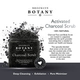 Activated Charcoal Scrub 10 oz - For Deep Cleansing & Exfoliation